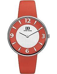 Danish Design - DZ120198 - Montre Femme - Quartz - Analogique - Bracelet Cuir Rouge