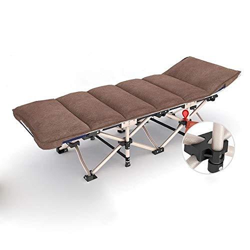 ZAQXSW Klappbett Einzelbett Klappstuhl für draußen Mittagsbett tragbares Marschschläfchenbett -