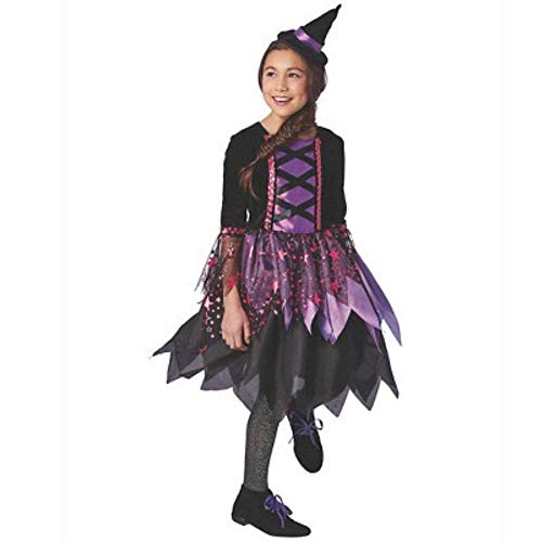 Costumes Zauber Hexe Kinder Mädchen Fasching Halloween Karneval Deluxe Kostüm Enchanted Witch Girl (Medium ()