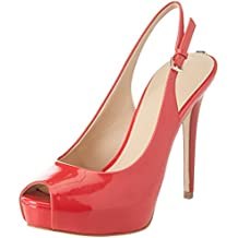 Guess Footwear Dress Sling Back, Scarpe Col Tacco con Plateau Donna