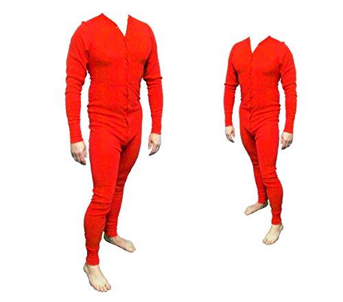 Long John Rot aus 100% Baumwolle in den Größen S - 4XL (L)