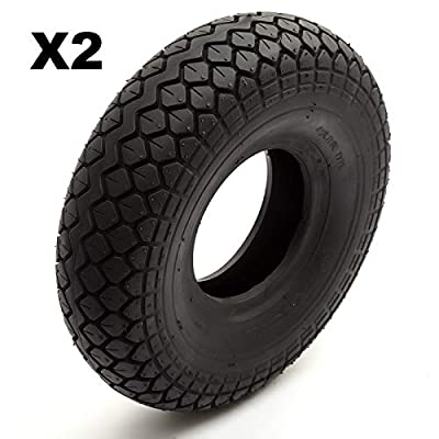 2 Tyre 4.00-5 Black Diamond Block Tread Fits Mobility Scooter 5 Inch Wheel Rim 4 Ply