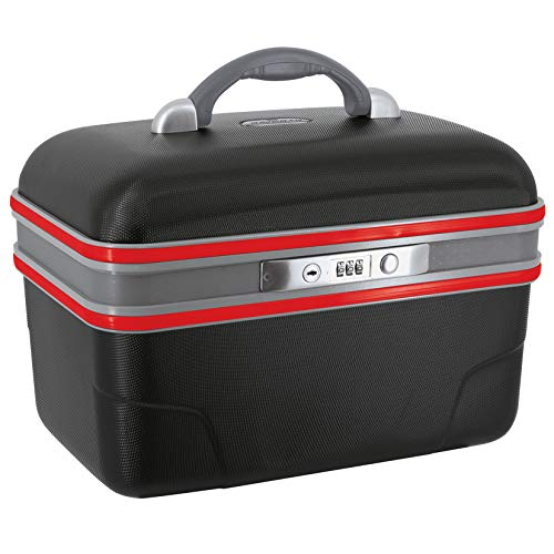 SAVEBAG - ASHOKA - Vanity rigide - noir / rouge - 34 X 20 X 23  cm - 1,6kg - 13 L