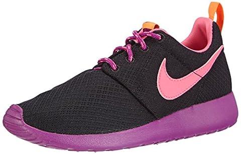 Nike Roshe Run, Mädchen Sneakers, Schwarz (Black/Pink Powder-Bld Berry-Total Orange), 35.5 EU