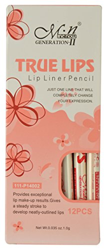 m.n Me Now True Lips Orange and Pink Lip Liners - Pack of 12