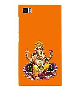 Fuson Designer Back Case Cover for Xiaomi Mi3 :: Xiaomi Mi 3 (Ganesha GAnapathi lord GAnapthi Lord Ganesha Ganesha Idol)
