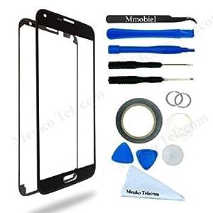 Front Glas für Samsung Galaxy A5 A500 (2015) Series Display Touchscreen mit 12 tlg. Werkzeug-Set / passgenauem PreCut Sticker / Pinzette / Rolle 2mm Klebeband / Saugnapf / Metall Draht / Mikrofasertuch MMOBIEL