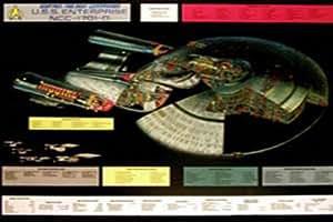 empireposter - Star Trek - Enterprise, 1701 D Cut Away - Größe (cm), ca. 100x70 - Poster, NEU - Beschreibung: - Filmposter Kino Movie Science Fiction Sci Fi -