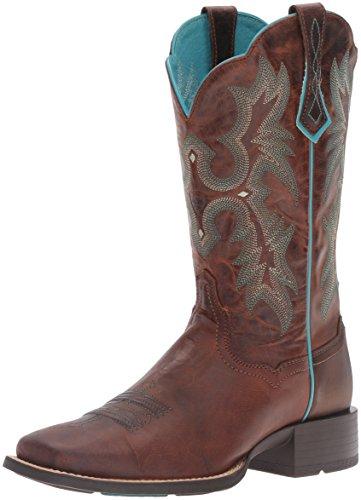 Ariat 8017 Tombstone Brown Lederstiefel für Damen Braun Westernreitstiefel, Groesse:39 (6 UK)