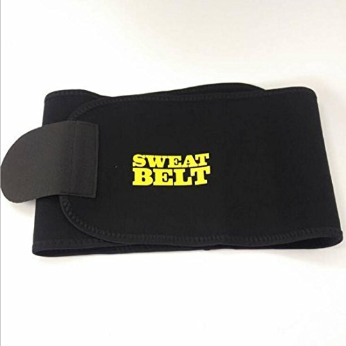 328ee02913 Buy Hot Shapers Sweat Waist Trimmer Fat Burner Belly Tummy Yoga Wrap Black  Exercise Body Slimming Belt on Amazon