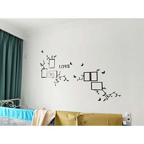 SJXWOL selbstklebend Wand -Aufkleber Wohnzimmer Schlafzimmer -Kunst -Wand -Dekor -Sofa Tv Hintergrund Spiegelwand Sticker167 * 120cm (Hintergrund Blume Diy Papier)