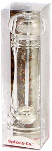 BISETTI Spice & Co. Molinillo de Pimienta/Sal Universal, acrílico, Transparente, 6x 6x 21cm