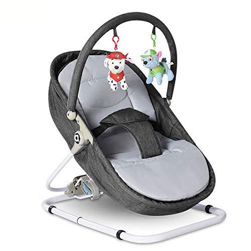 HWG-GAOYZ Schaukel Stuhl Prahler Baby Schaukelstuhl Lehnstuhl Neugeborenes Wiegen Bett Nicht Elektrisches Kind Baby Artefakt,Grey