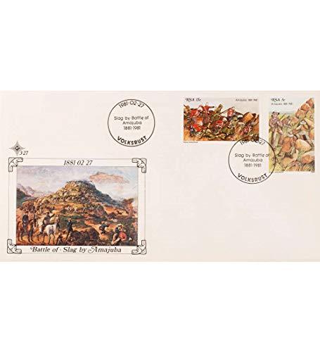 Goldhahn Südafrika Nr. 581-582 FDC Ersttagsbrief Schlacht bei Amajuba Briefmarken für Sammler -