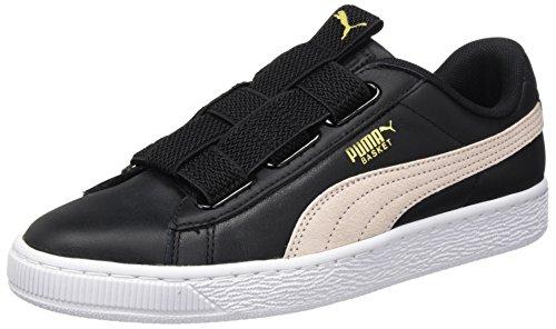 WNs Black Pearl Puma Maze Sneaker Lea Schwarz Puma Basket Damen AnT4qWwII