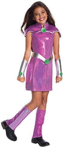 Rubie's DC Superhero Girls Deluxe Starfire Girls Fancy Dress Costume Medium (Teen Titans Go Kostüm)