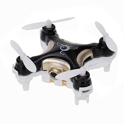 YKS CX-10C avec 0.3MP Caméra Hélicoptère Mini Mode Sans Tête 2.4G 4CH 6-Axis RC RTF Drone Quadcopter BeiyiHomeFR (Noir)