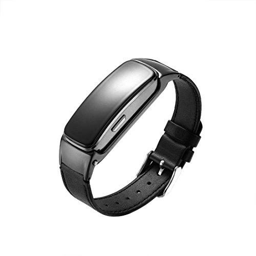 Smartwatch Armband Smart Talk Band Bluetooth Kopfhörer Smart Band Blutdruck Talkband b3 Antwort und Dail Anruf Smart Call Armband B3 Plus , Schwarz Smart Talk Bluetooth