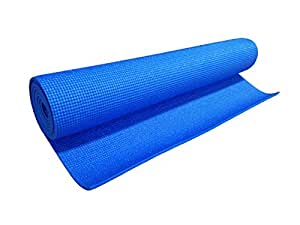 Silver's Yoga Mat with Cover, 4mm (Blue)