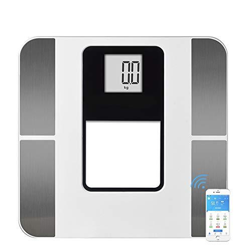 Tik Bluetooth-Körperfettwaage Smart BMI-Waage Digital Bathroom Wireless Weight Scale, Körperzusammensetzung Analyzer mit Smartphone-App