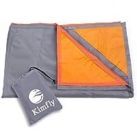 Kimfly Pocket Picnic Blanket,Portable Lightweight Waterproof Pocket Picnic Blanket/Sand-proof Beach Mat for Outdoor Travel Camping Hiking (Grey)