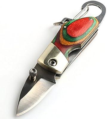 VERY100 10,7cm Multifuncional Cuchillo Supervivencia navaja de bolsillo + Funda de Tela de Oxford - metal de acero