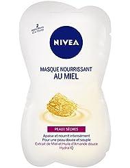 Nivea Masque Nourrissant au Miel Peaux Sèches 2 x 7,5 ml - Lot de 4