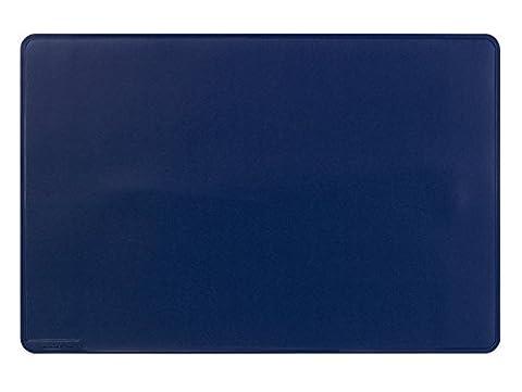 Durable 710207 Sous-main Plaque Simple Format Bureau 53 x 40 cm Bords Rainurés Bleu Foncé