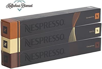 Nespresso Espresso Trio Vanilio, Caramelito, Ciocattino–Variaciones–30Cápsulas