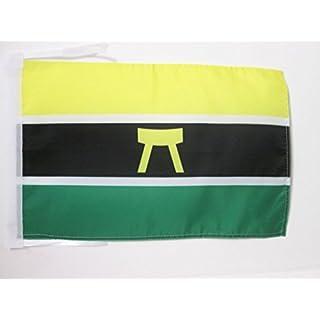 AZ FLAG ASHANTI PEOPLE FLAG 18'' x 12'' cords - ASANTE SMALL FLAGS 30 x 45cm - BANNER 18x12 in