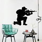 Ajcwhml Soldat Silhouette wandtattoos Vinyl Kunst