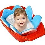 Comtervi Blume Baby Badematte Neugeborene Badewanne Sitze Tragbare Badewanne Faltpolster