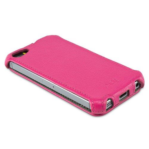 "PLM ""Istanbul"" Pink Apple iPhone 5S iPhone 5 Flip Case Ledertasche Hülle Tasche Cover Premium Kunstleder rosa"