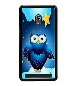 Blue Owl 2D Hard Polycarbonate Designer Back Case Cover for Asus Zenfone 5 A501CG :: Asus Zenfone 5 Intel Atom Z2520 :: Asus Zenfone 5 Intel Atom Z2560