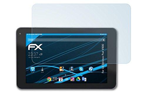 atFoliX LG Optimus Pad (V900) Schutzfolie - 2 x FX-Clear kristallklare Displayschutzfolie