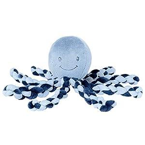 Nattou Peluche de Pulpo, Para recién nacidos y prematuros, 23 cm, Azul