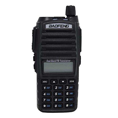 Generic Portable Radio Walkie Talkie UV-82 With Earphone on Vhf Uhf Baofeng two-way radio