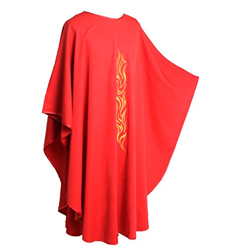 Priester Der Rote Kostüm - BLESSUME Kirche Priester Chasuble Weste Rot (Style#3)