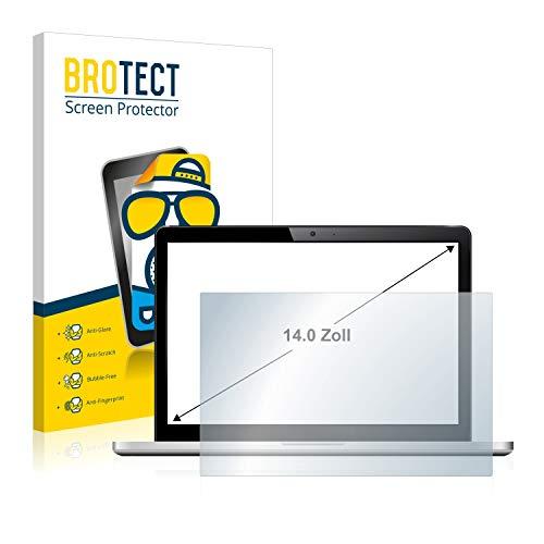BROTECT Schutzfolie Matt für Notebooks und Laptops mit 35.6 cm (14 Zoll) [310 mm x 175 mm, 16:9] - Entspiegelt