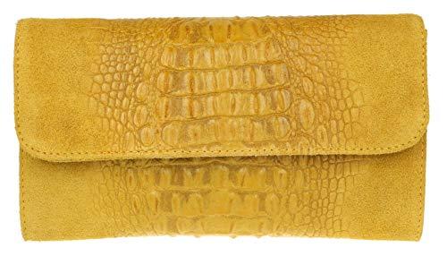 Boslo amarillo mostaza de ante para mujer