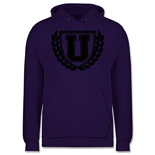 Anfangsbuchstaben - U Collegestyle - Männer Premium Kapuzenpullover / Hoodie Lila