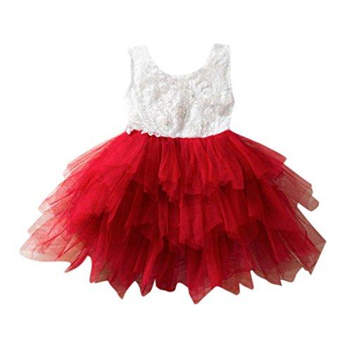 Kleid Mädchen, HUIHUI Toddler Mädchen Kleid Floral Tutu Sommerkleid Party Prinzessin Dress Casual...