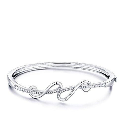 silver bracelet/925Bracelet en argent bracelet plaqué platine ajourée/ a envoyé sa copine cadeaux Saint Valentin A