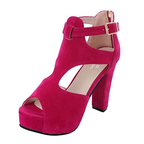 SANFASHION Damen High Heels Sandalen Plateau Pumps Peep Toe Schuhe Fisch Mund Klassischer Absatzschuh Lauren High Heels