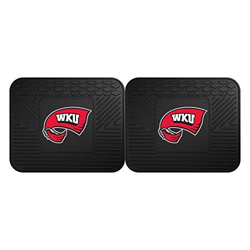 FANMATS NCAA Western Kentucky University Hilltoppers Vinyl 2-Pack Utility Mats (Utility Mats)