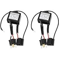 Yctze 2 piezas de polaridad invertida, convertidor negativo de aleación LED Adaptador de arnés de interruptor negativo polar Polaridad invertida para H4