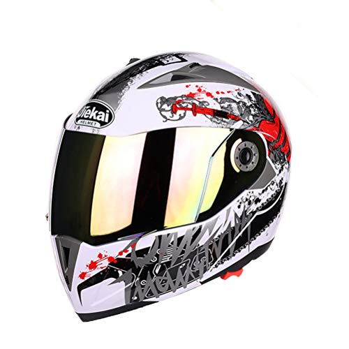 Adulti Full Face Motocross Caschi Abs Materiale Doppio Lente Uomini Mountain Road Moto Casco donne Sicurezza Caps Anti Fall Modular Racing Helmet