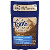 Tom's Of Maine Men's Deodorant Mountain Spring - 2.25 Oz - Case Of 6