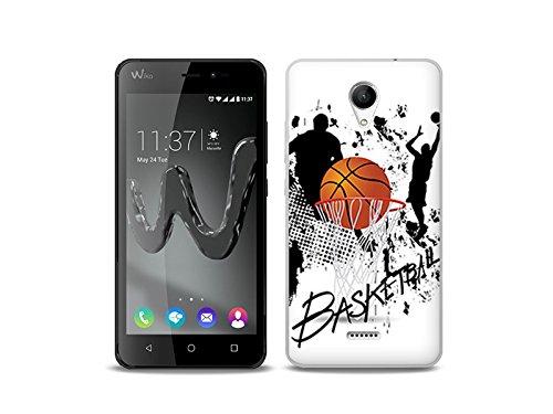 etuo Handyhülle für Wiko Freddy - Hülle Fantastic Case - Basketball - Handyhülle Schutzhülle Etui Case Cover Tasche für Handy