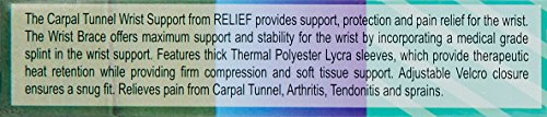 Relief Carpal Tunnel Wrist Brace- Black (Left)